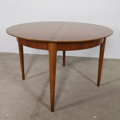 Extendable round table by Lübke, 1960s