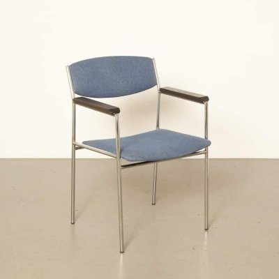 6 x Conference Dining chair by Gijs van der Sluis, 1960s
