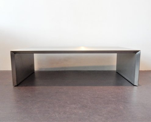 Mid century rectangle aluminum coffee table
