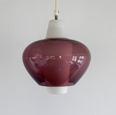 NG68 E/01 glass pendant lamp by Louis Kalff for Philips, 1960's