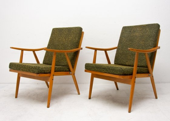 Pair of Interier Praha arm chairs, 1960s