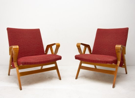 Pair of Tatra Nabytok NP arm chairs, 1960s