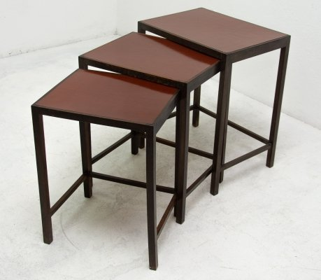 H-50 nesting table by Jindřich Halabala, 1950s