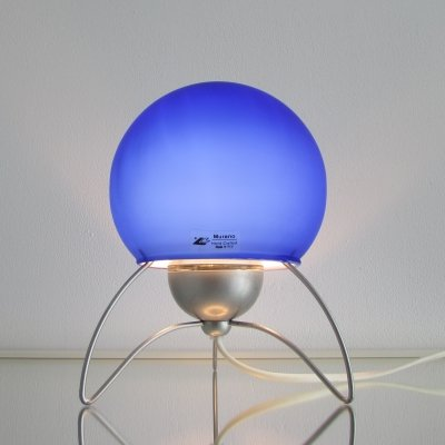 Italian Tripod Murano Glass Table Lamp