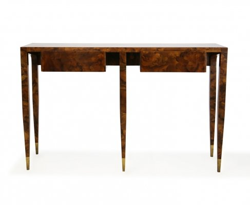 Certified console by Gio Ponti in walnut root, 1950s