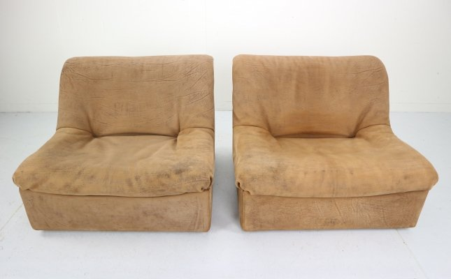 De Sede 'DS46' Two-Piece Sectional Sofa in Buffalo Leather, Switzerland 1970s