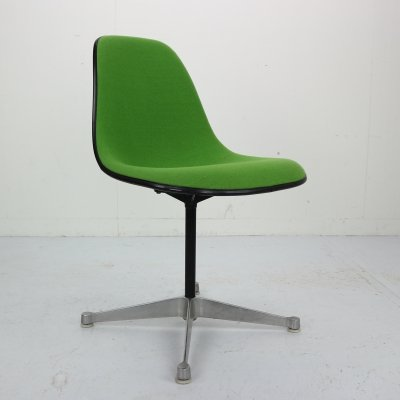 Vintage Upholstered & Contractor Base Eames Swivel Chair for Herman Miller