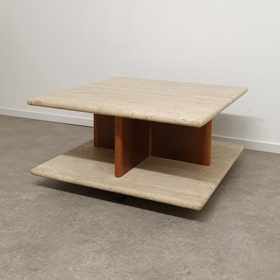 Travertin Coffee Table on wheels