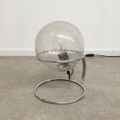 70's Tablelamp with crackle glass