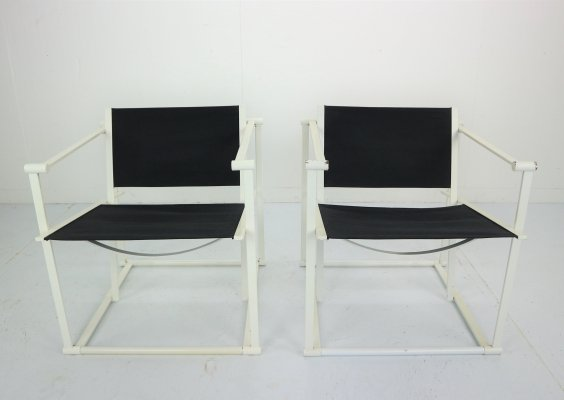 Set of 2 Radboud Van Beekum Fm62 Cube Chairs for Pastoe, 1980s