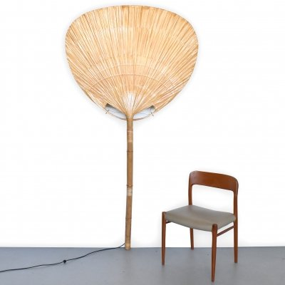 Uchiwa floor lamp by Ingo Maurer, 1970s