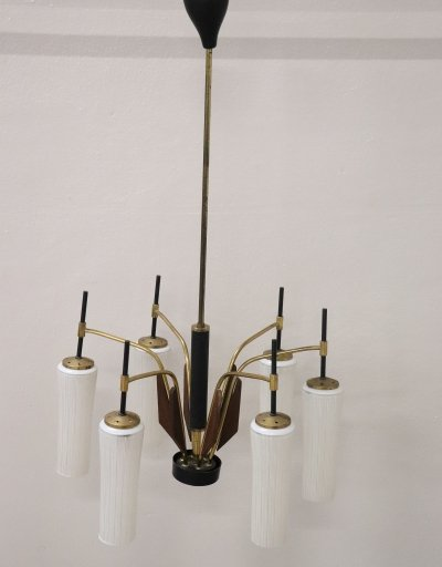 Six Light Bulbs Chandelier by Stilnovo, 1950s
