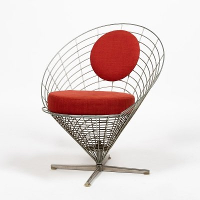 Wire Cone lounge chair by Verner Panton for Plus Linje, 1960s
