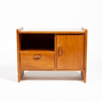 Small solid cherry wood cabinet by Jacob Müller, 1950s