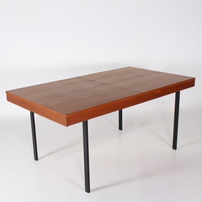 Extensible teak dining table by Pierre Guariche for Meurop