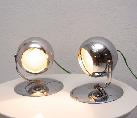 Pair of mid century space-age table lamps, Central Europe 1960S