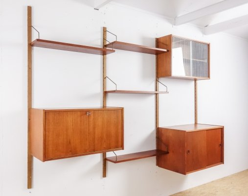Teak Wall unit by Peter Sorensen for PS System, 1960s