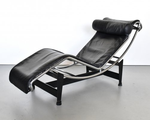 LC4 lounge chair by Charlotte Perriand & Le Corbusier for Cassina, 1980s