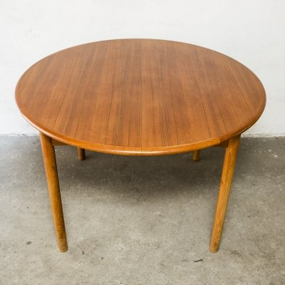 Extendable Danish Teak Dining Table, 1960s