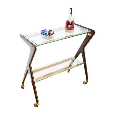 Rare 50's serving bar cart edited by RAMA Torino, Italy 1950s