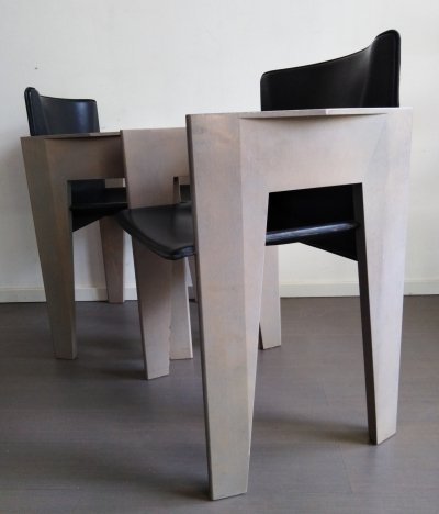 Pair of Postmodern Italian chairs, 1980s