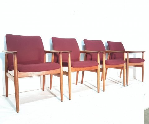 4 armchairs by Grete Jalk for Glostrup, 1960s