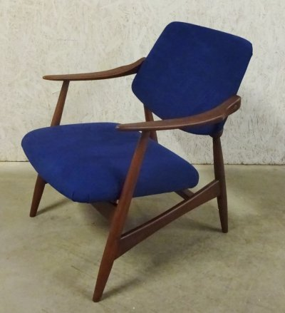 Palissander lounge armchair by Louis van Teeffelen for Wébé, 1950s