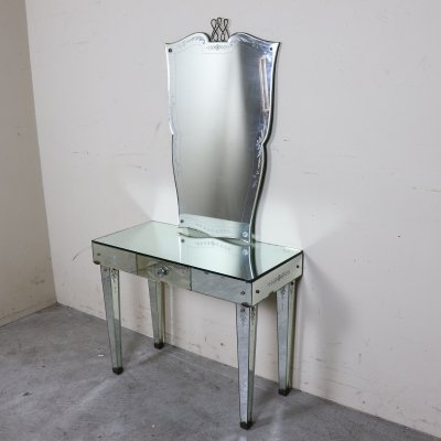 Console Table with Mirror, 1940s
