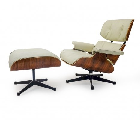 Mobilier International Eames Lounge Chair & Ottoman in Rio Rosewood