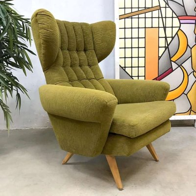 Vintage Scandinavian design wingback chair