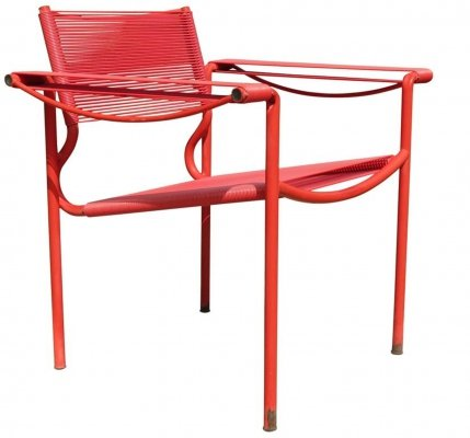 Red Alias Spaghetti chair by Giandomenico Belotti, Italy 1980s