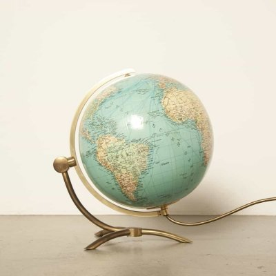 Glass globe / earth by Paul Oestergaard for Columbus Verlag DUO Erdglobus