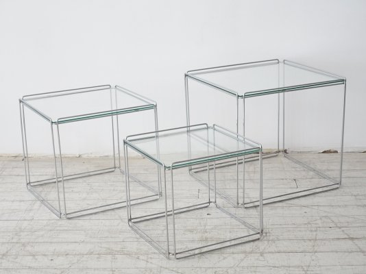 Nesting tables by the French artist Max Sauze, circa 1970