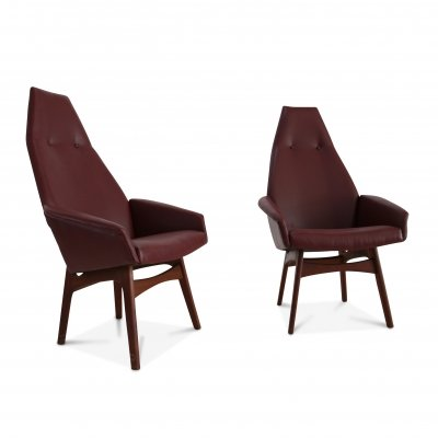 Pair of Capitan armchairs by Adrian Pearsall, 1950s