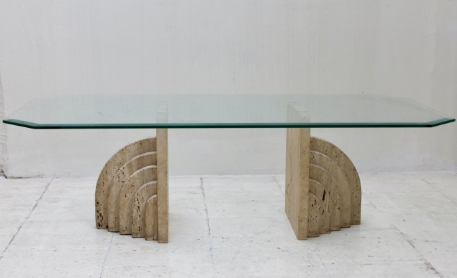 Travertine table from the 70's