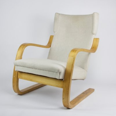 Early edition 'model 401/36' bentwood armchair by Alvar Aalto for Artek, 1933