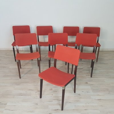 Set of 8 'model S82' chairs in Rosewood by Eugenio Gerli for Tecno, 1960s