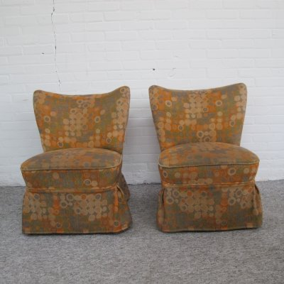Pair of vintage Cocktail club chairs, 1960s