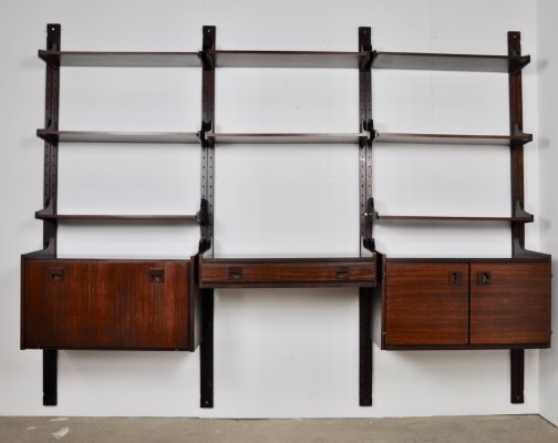 Italian rosewood wall unit, 1965