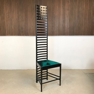 Hill House 1 Chair by Charles Rennie Mackintosh for Cassina, 1973