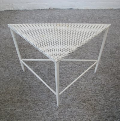Triangle Side table by Mathieu Mategot for Artimeta, 1950s