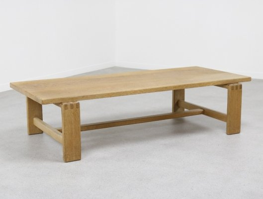 Solid oak coffee table by Esko Pajamies for Asko, Finland 1960s