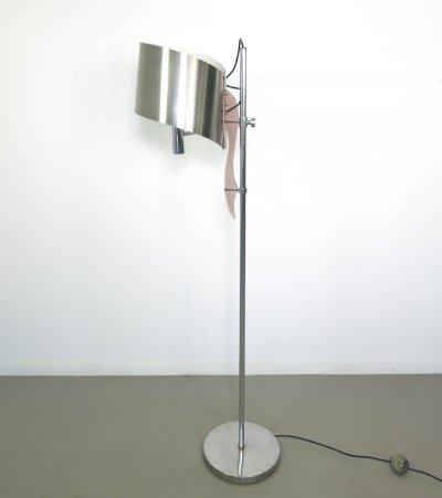 Maison Charles Floorlamp with Brushed aluminum shade