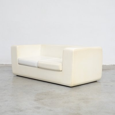 White Throw-Away Sofa by Willie Landels for Zanotta, 1965