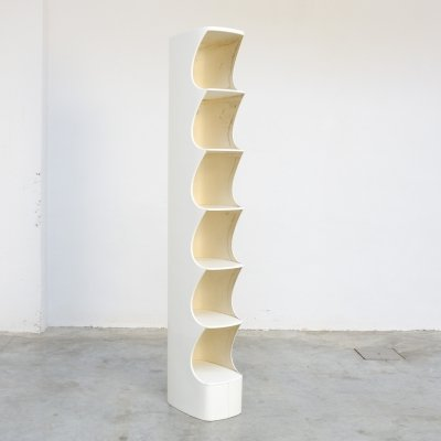 White Totem Shelf by Valeric Doubroucinskis for Rodier, 1973