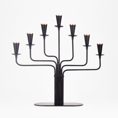 Candelabra for seven candles by Gunnar Ander for Ystad Metall, 1970s