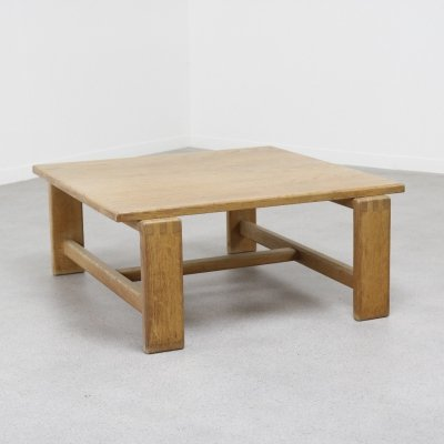 Oak coffee table by Esko Pajamies for Asko, Finland 1960s