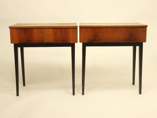 Pair of night stands by Jindřich Halabala, 1950s