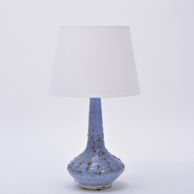 Vintage Ceramic Table Lamp in light blue by Soholm