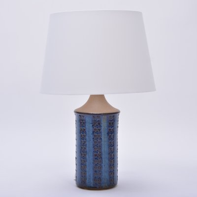 Tall Blue Vintage Table Lamp Model 3047 by Soholm Stentoj